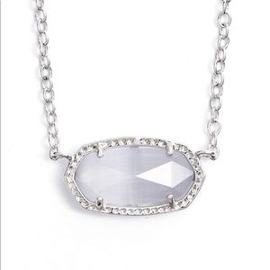clear and silver kendra scott necklace